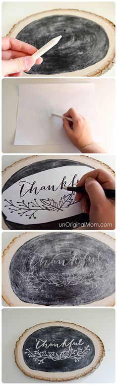 Presto, perfect hand lettering on a chalkboard - regardless of what your actual handwriting looks like!
