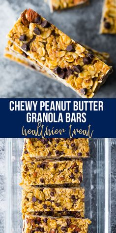 Chewy peanut butter granola bars made with healthy ingredients and no refined sugar! Full of peanut butter flavor, easy to prepare (no oven required!) and perfect for a healthier treat. #sweetpeasandsaffron #granolabars #nooven #healthydessert #norefinedsugar Healthy Chips, Healthy Treats, Healthy Eating, Granola Bars Peanut Butter, Peanut Butter Roll, Slow Cooker Freezer Meals, Slow Cooker Recipes, My Favorite Food, Favorite Recipes