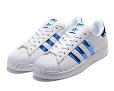buy online 3638a b3006 adidas Originals women s Superstar Foundation Fashion Sne... Tenis Adidas,  Blue Adidas,