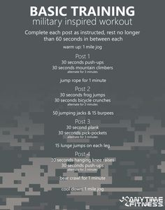 Basic Training: Military Inspired Workout - This no-equipment 45-minute workout will have you burning calories like a boss!