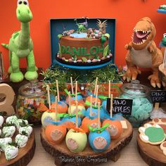 What a fun Good Dinosaur birthday party! See more party ideas at CatchMyParty.com!
