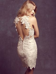 Saylor Jessa Foil Lace Dress at Free People Clothing Boutique