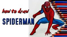 How to draw Spiderman with colorpaperprincess