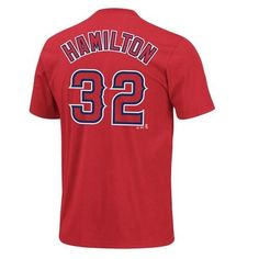 Josh Hamilton Los Angeles Angels Name and Number Majestic Youth T-Shirt