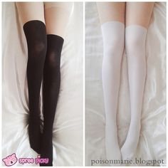 2 Colors Basic Fake Over Knee Thigh High Tights sold by SpreePicky. Shop more products from SpreePicky on Storenvy, the home of independent small businesses all over the world. Thigh High Tights, Thigh Highs, White Knee High Socks, Lace Knitting, Knitting Socks, Japanese Sweet, Big Thighs, Girls Uniforms, Cool Fabric