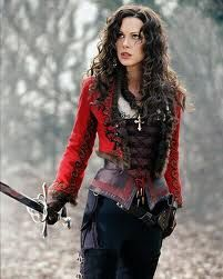 kate beckinsale from van helsing. i love her outfit here