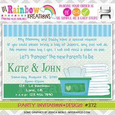 372 DIY Diaper's and Wipes Party by LilRainbowKreations on Etsy