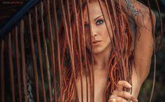 From a jungle ... - model Jane Vurt
