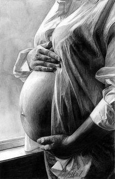 Dessin femme enceinte.