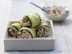 Thunfisch-Zucchini-Röllchen - smarter - mit Kapern. Kalorien: 174 Kcal | Zeit: 40 min. #snack