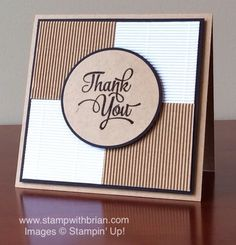 One Big Meaning, Corrugated Paper, Stampin' Up!, Brian King