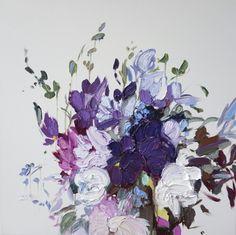"""Meandering in Violet"" Oil on canvas 30"" x 30"" STEPHANIE FEHRENBACH"
