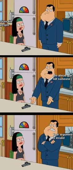 American Dad on guns.