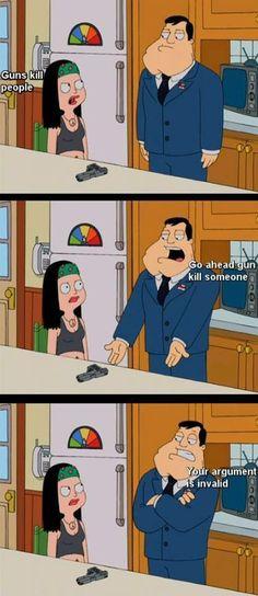 American Dad on guns.