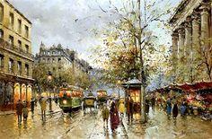 Flower Market at the Madeleine - Antoine Blanchard