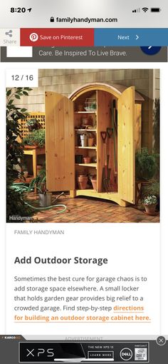Small Lockers, In Law House, Share Care, Outdoor Storage, Storage Spaces, Cabin, House Styles, Home Decor, Decoration Home