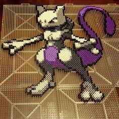 Mew Two Pokemon perler beads by perlpop