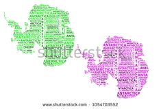 Sketch Antarctica letter text continent, Antarctic word - in the shape of the continent, Map of continent Antarctica - green and purple vector illustration Map Of Continents, Antarctica, Green And Purple, Tatting, Sketch, Shape, Stock Photos, Lettering, Words