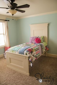 Ana White | Build a Twin Panel Bed | Free and Easy DIY Project and Furniture Plans