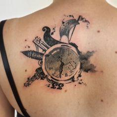 #time #tattoo #istanbul #izmir #mersin #viking #sailboat #bosphorus #galatakulesi #galatatower #clocktower #past #future #blacktattooart #blacktattooing  #blackworkers #ink #customdesign #art #artwork #tattooer #onlyblackart #blackartist