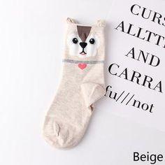c2226de1b Hot 3-D Animal Cat Dog Socks. Cute Cartoon GirlCartoon ...