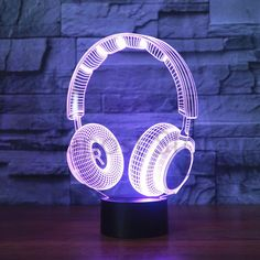 Flavor Luminous Toothed Wheel Heart Model Nightlight 3d Illusion Led Lamp 7 Color Changing Light Grear Heart Figure Toys Fragrant In