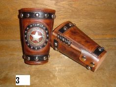 Cowboy cuffs with ranger star and spots.-SR