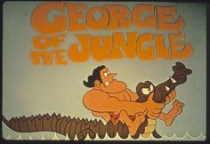 Theme Song to George of the Jungle Retro Cartoons, Old Cartoons, Classic Cartoons, Vintage Cartoon, Theme Tunes, Theme Song, George Of The Jungle, Tv Themes, Morning Cartoon