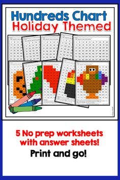 These engaging worksheets help students learn to navigate the hundreds chart!  While identifying numbers on the hundreds chart, students develop an understanding of place value! Kindergarten Lesson Plans, Kindergarten Activities, Preschool Kindergarten, Math Place Value, Place Values, Christmas Language Arts, Christmas Math, Fun Math, Math Games