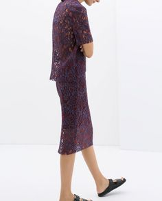 LACE PENCIL SKIRT from Zara