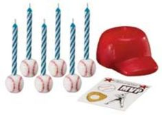Baseball Birthday Candles and Decoration Set by Wilton