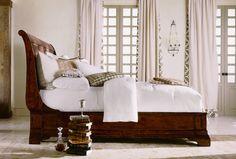 Henredon Cavalier Low Sleigh Bed  Showroom Details: Henredon Interior Design Showroom