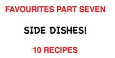 Part seven of our favourites series; Check out our video with links to over 10 delicious recipes! Delicious Recipes, Yummy Food, Side Dishes, Company Logo, Check, Delicious Food, Side Dish, Appetizer