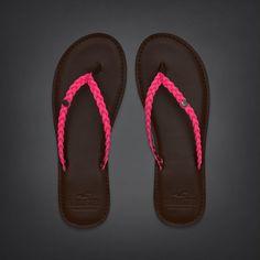 Bettys So Cal Pink Leather Flip Flops | #InHollister Shorts & Swim | HollisterCo.com