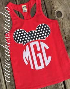 Disney shirt mickey minnie mouse Tank top by Cutiecakesstudio