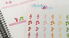 Music Note Life Planner Die-Cut Stickers Set of by Libbieandco