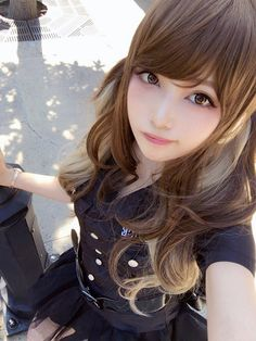Asian Cute, Cute Asian Girls, Beautiful Asian Girls, Cute Girls, Kawaii Cosplay, Cute Beauty, Dark Beauty, Asian Beauty, Poses