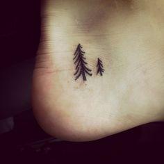 #pine_tattoo #small_tattoo #foot_tattoo
