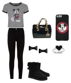 """mickey mouse"" by keekelovee14 ❤ liked on Polyvore featuring interior, interiors, interior design, home, home decor, interior decorating, Topshop, 7 For All Mankind, UGG Australia and Michael Kors"