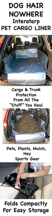 InteraTARP Removable Pet Dog SUV Cargo Liner. It's great for carrying pets, mulch, plants, sports gear or anything you can think of.
