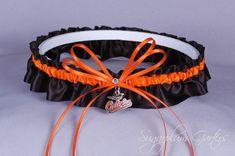 479eba0b796 A Baltimore Orioles inspired wedding garter belt in orange and black satin
