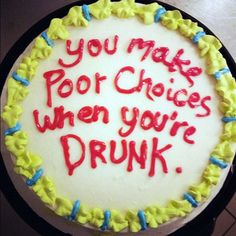 funny cake messages