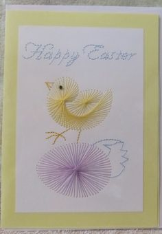 Embroidery Cards, Easter Chick, String Art, Hand Stitching, I Card, Inspiration, Birds, Projects To Try, Biblical Inspiration
