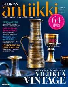 Magazine Cover 7/2013. Savitorppa pottery. Photo Piia Arnould. September 2014, Pottery, Magazine, Graphic Design, Vintage, Cover, Ceramica, Pottery Marks, Magazines