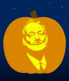 1. Bill Murray - submitted by Brooke Costanza   18 Insanely Clever Pop Culture Stencils To Up Your Pumpkin Carving Game