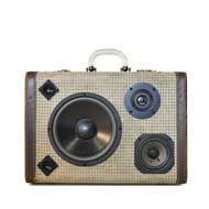 vintage suitcase boombox