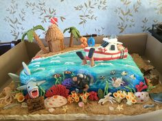 Scuba diving cake. This one was fun to make.