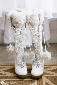 Toasty and Warm Winter WeddingBoots - Holiday Weddings - unique daily wedding blogs from Best Wedding Sites for brides & grooms