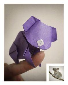 https://flic.kr/p/tzxPDo | YOSHIHIDE MOMOTANI / koala | origami / 折紙  桃谷 好英 / YOSHIHIDE MOMOTANI  koala / 無尾 熊   材質 : 日本 色紙~!!!