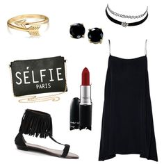 Black by explorer-14342008228 on Polyvore featuring polyvore fashion style B. Brilliant Bling Jewelry Charlotte Russe MAC Cosmetics